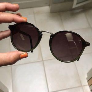 Ellison Polarized Brown & Green Ombré Sunglasses